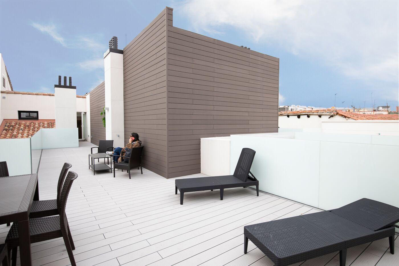 ático con terraza en el barrio de justicia en madrid